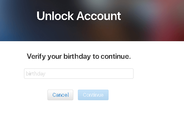 answer security question